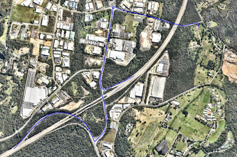 Path of traffic to the facility
