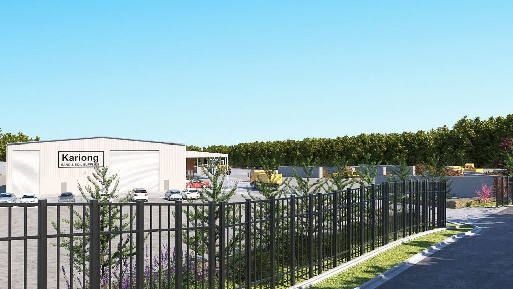 Front 3d view of the new facility